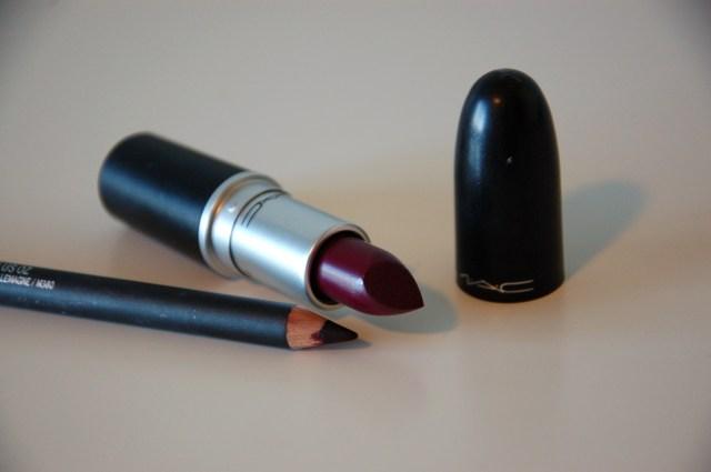 Mac Rebel lipstick and Nightmoth lip miner