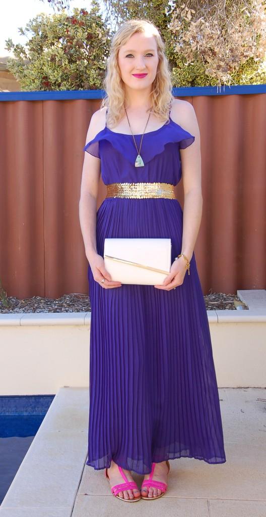 blue maxi dress ootd