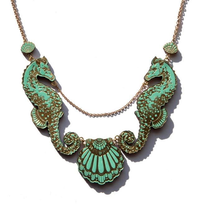 Seahorse shell necklace