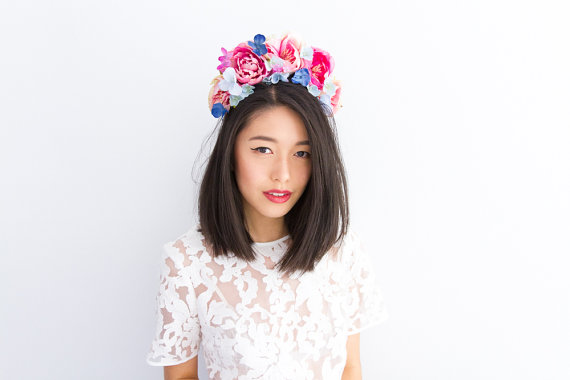 K is for Kani flower crown