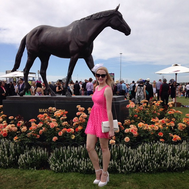 Melbourne Cup fluoro pink dress   Extraordinary Days