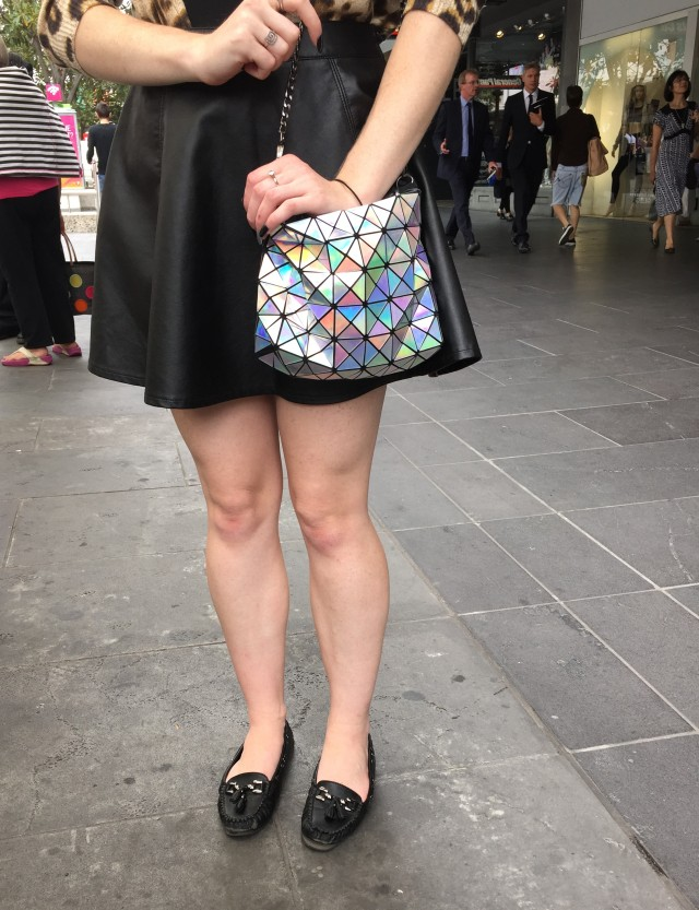 Melbourne holiday - leopard print, faux leather and holographic bag | Extraordinary Days