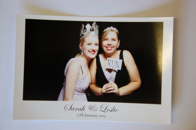 Photobooth fun with the blushing bride!